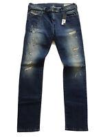 $278 Diesel Women's Grupee Super Slim Skinny Jeans Destroy-Repair RI141 Size W30