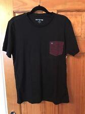 True Religion T-shirt Homme JET BLACK MC779WA6 Big T Stitch Tee Medium