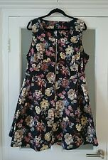 BNWT Samya women's plus size black floral printed dress, size 24