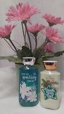 LOT Bath & Body Works Vanilla Bean Noel Lotion & Fresh Sparkling Snow FREE SHIP