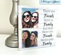 PERSONALISED FRIENDSHIP GIFT BEST FRIEND large freestanding photo plaque block
