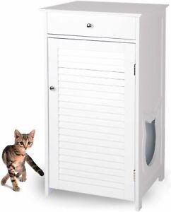 Katzenschrank für Katzentoilette, Katzenklo-Schrank Kommode + Schublade Klo groß