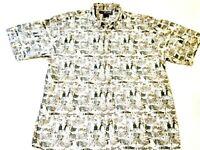 Vintage REEL LEGENDS Bass Bait Fishing Short Sleeve Shirt size MENS XL in EUC