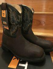 NWT Men Ariat Boots Brown 10017434 Pull Western STEEL TOE EH Square Toe Sierra