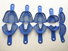10pcsset Plastic Steel Dental Impression Trays