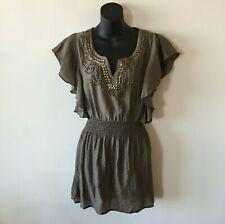 Mine Anthropologie Sleeveless Studded Tunic Dress Top Women's Large L New
