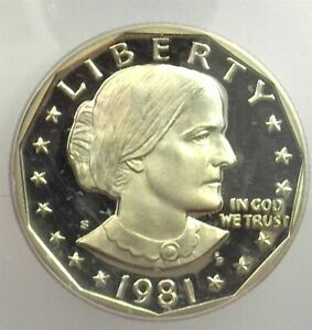 1981-S SUSAN B ANTHONY DOLLAR ICG PR 70 DEEP CAMEO TYPE 2