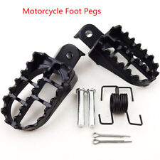 2Pc Black 8mm Bolt Motorcycle Foot Pegs Footrest For Hond PW50 Kawasaki KLX110