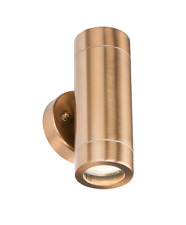COPPER OUTDOOR UP & DOWN WALL LIGHT GARDEN TWIN LIGHT 5W LED INCLUDED