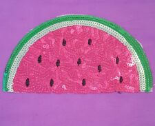 Watermelon fruit sequin embroidery patch lace applique motif dress dance costume