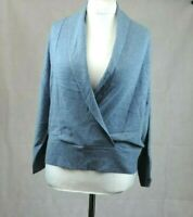 Poetry Linen And Cotton Wrap Sweater Dusty Blue Size UK 12 rrp £119 DH083 JJ 06