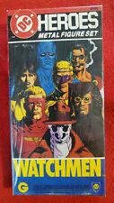 DC Heroes WATCHMEN Metal Figure Set 1985 NEW Sealed Mayfair Games RARE HTF