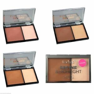 Technic Define and Highlight Face Contour Kit Pressed Powder Bronzer Highlighter