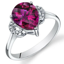 14 Kt White Gold 3.25 cts Ruby and Diamond Ring R61576