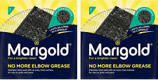 2 x Marigold mai più olio di gomito acciaio inox SPUGNA DETERSIVO Pad Spugna