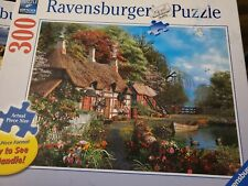 Cottage On a Lake 300 Large Format Piece Puzzle  Easy to See & Handle •J1
