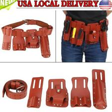 5in1 Leather Tool Belt Pouch Scaffolding Tool with Tool Holder for Level Spanner