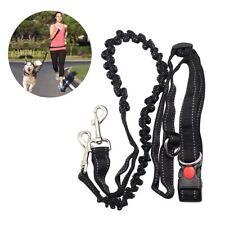 Adjustable Hands Leash Dog Lead W/ Waist Belt for Jogging Walking Running