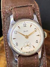 Vintage Men's Wrist Watch Zim Pobeda Soviet USSR Serviced #0923