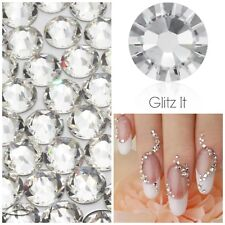 Swarovski x 50 MIXED SIZE CLEAR GLUE ON Crystals Diamantes Rhinestones Nail Art