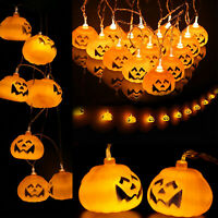 10/20 Pumpkin LED Lamp Halloween Party String Fairy Lights Lantern Decor Prop
