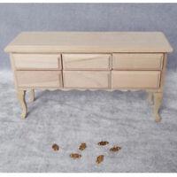 1/12 Dollhouse Miniature Wood Table Model Living Room Furniture Decor
