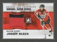 (67577) 2009-10 ITG HEROES and PROSPECTS SUBWAY SUPER SERIES JERSEY NAZEM KADRI