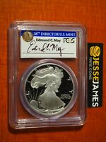 1992 S PROOF SILVER EAGLE PCGS PR69 DCAM EDMUND MOY HAND SIGNED BLUE LABEL