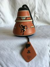 Vintage Native American Indian Hand Painted Clay Bell/Wind Chime