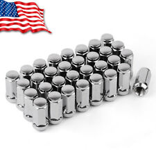 32 Extended XL Wheel Lug Nuts 9/16-18 Acorn Bulge for Ford Dodge Ram 2500 Trucks