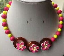 Fluorescent Shell Pearl, Agate Rounds & Flower Feature Memory Wire Necklace