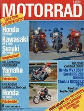 Motorrad 6/83 1983 Gilera Saturno Puch Lido 80 SE Simson Super Yamaha RD250 moto