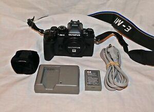 Olympus OM-D E-M1 16.3MP Digital Camera w/battery/charger/flash/strap EX+++