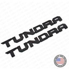 2pcs 13-19 Black Tundra Letter Side Fender Tailgate Nameplate Emblem Badge Logo