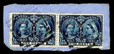 CANADA #54  USED PAIR DIAMOND JUBILEE ISSUE OF 1897 - VF -  $90.00  (ESP#6879)