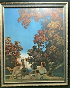 ☞ Original Maxfield Parrish LUTE PLAYERS Orig Frame Reinthal Newman House of Art