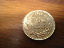 ONE  BU  1945 2 PESO .900 GOLD  COIN, 1.6666 GRAMS, 21.6 KT  FROM A LOT OF  2