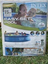 Intex Easy Set Pool 15 foot x 33 inch Above Ground Pool Set - Blue