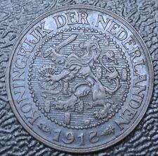 1918 NETHERLANDS - 2 1/2 CENT - BRONZE - WWI era