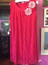 Stunning Metalicus Stretch Red Lace Tunic Top Rosettes One Size 12-14 Excellent