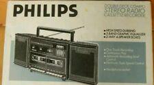 PHILIPS DOUBLE DECK COMBO STEREO RADIO CASSETTE RECORDER neu