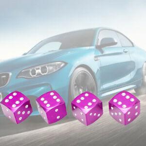 Purple Dice Aluminium tire air valve stem cap wheel For Kia Hyund