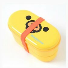 San-X Rilakkuma Bento Box Two Tier Lunch Box with Chopsticks Kiiroitoris Face