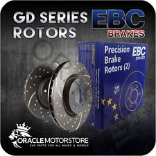 NEW EBC TURBO GROOVE REAR DISCS PAIR PERFORMANCE DISCS OE QUALITY - GD7386