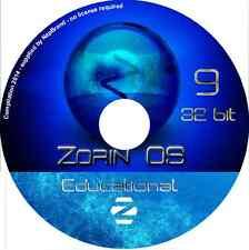 ZORIN OS éducatif 9 long term support 32 bits DVD LIVE aucune licence nécessaire Linux