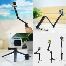 Foldable Tripod/Monopod/Stick/Hand Grip for Gopro Hero 3+ 4 5 Black SJCAM XiaoYi