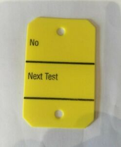 PAT Test Tags - Plastic (Ideal for extension leads)  (Per 10 )