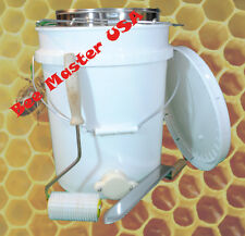 Bottling Pail with gate, Lid, Double Sieve Strainer,Uncapping Roller and Knife.