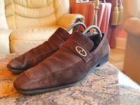 Gucci Mens Shoes Brown Suede Horsebit Loafers UK 7.5  US 8.5  EU  41.5 Vintage