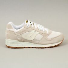 SAUCONY Mens Shadow 5000 Vintage Trainers in TAN & WHITE